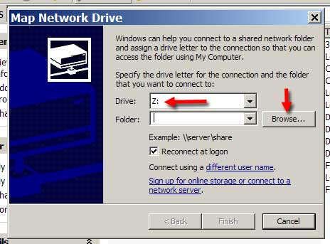 Adding a Networked Drive
