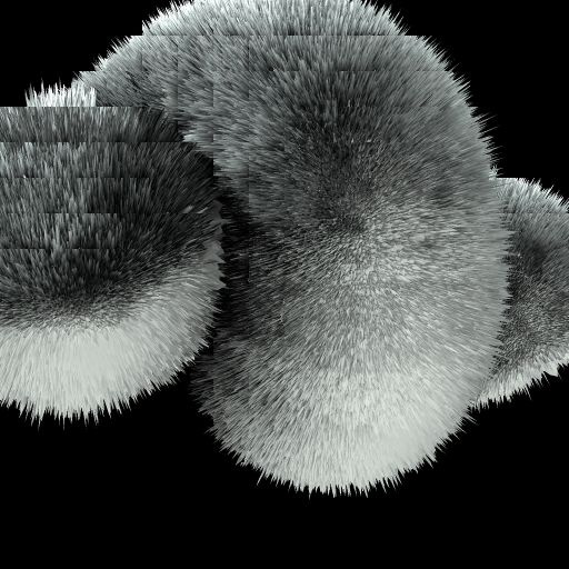 Fur Rendering with Bucket Size 32